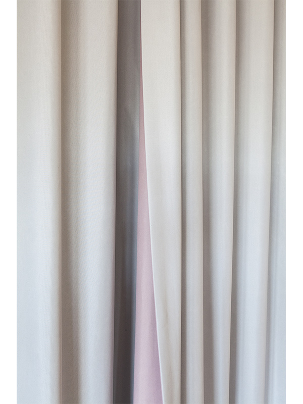 Rideau systeme wave - Silent Gliss - Tissu wescom - rose poudré