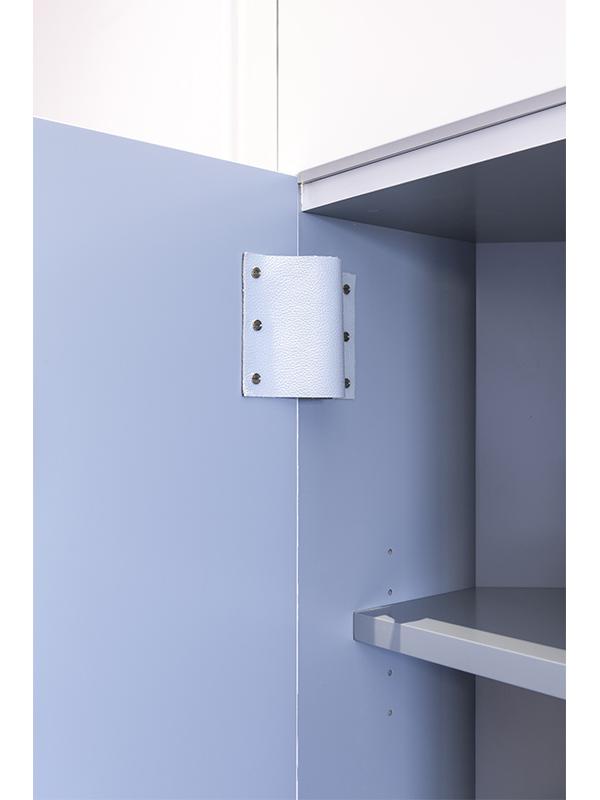 Intérieur Placard - Bleu - charnières cuir - design - atelier Tassin