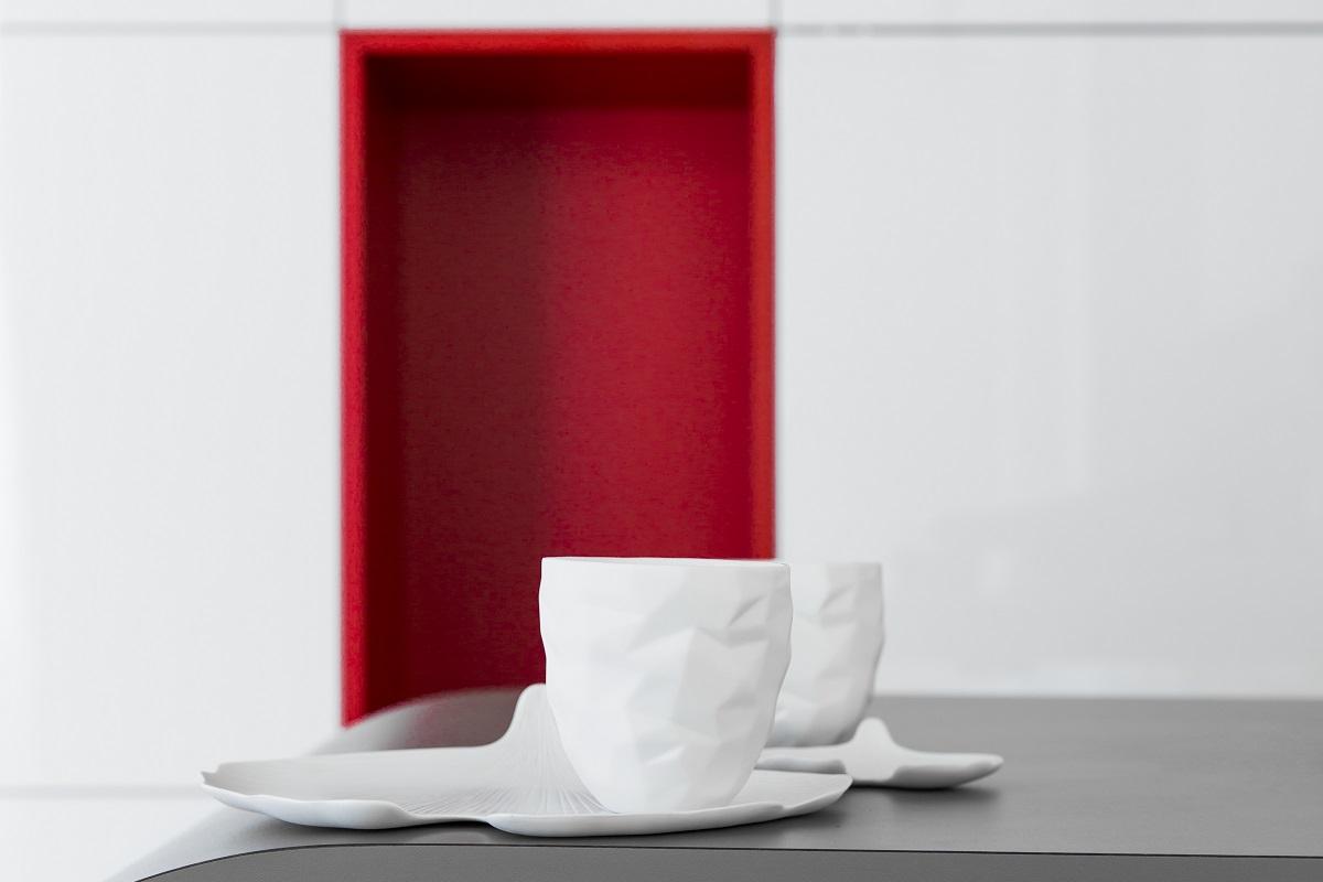 Niche rouge salle à manger